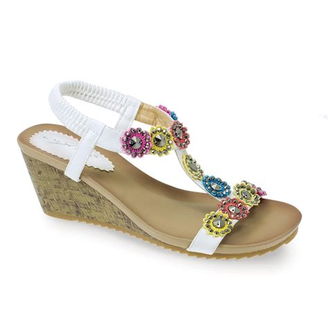 Floral Sandals lunar anya sandals wedge sandal floral design