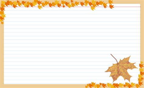 fall card template recipe card design previews for recipe manager with