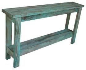 distressed sofa table aqua distressed sofa table farmhouse console tables