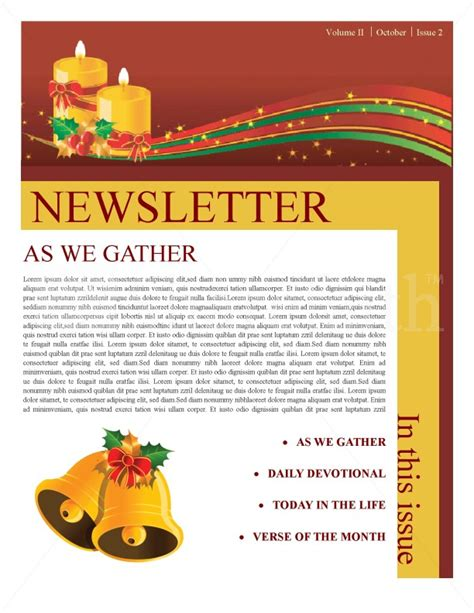 christmas newsletter clipart 91