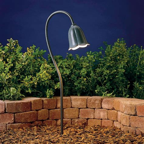 Landscaping Low Voltage Lighting Kichler 15349mst Midnight Spruce Tulip 18 5w Low Voltage Path Spread Light Lightingdirect