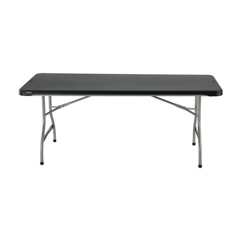 lifetime 6 table lifetime folding table 80174 6 almond fold in half