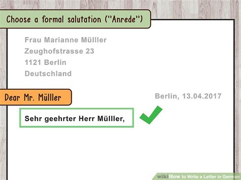 German Business Letter Writing 3 ways to write a letter in german wikihow