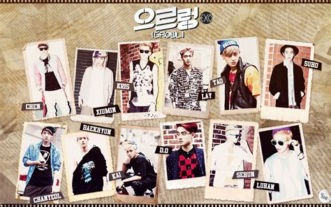 wallpaper exo growl exo 엑소 growl hangul romanization english dwi s