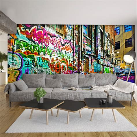 graffiti wallpaper for bedroom australia melbourne graffiti laneway wallpaper the block shop