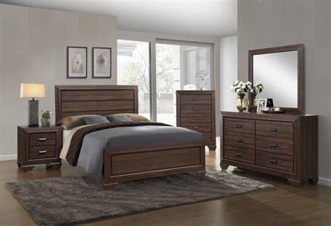 farrow chocolate bedroom set b5510 crown
