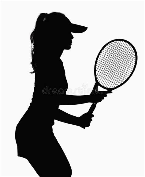 Promo Raket Tenis Silhouetee silhouette of with tennis racket royalty free stock photos image 33402728