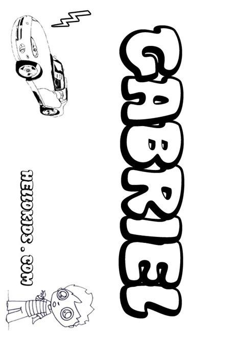Gabriel Coloring Pages Hellokids Com And Gabriel Coloring Page