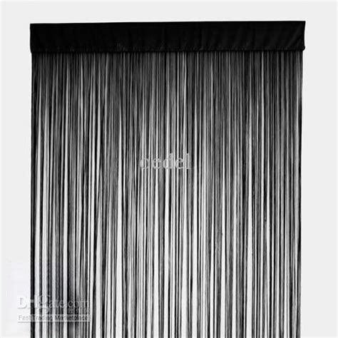 cheap string curtains 100 polyester black string curtain fringe curtain panel