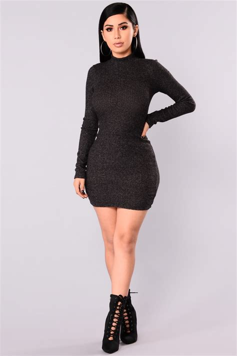 how to dress up a file soft sweater dress charcoal