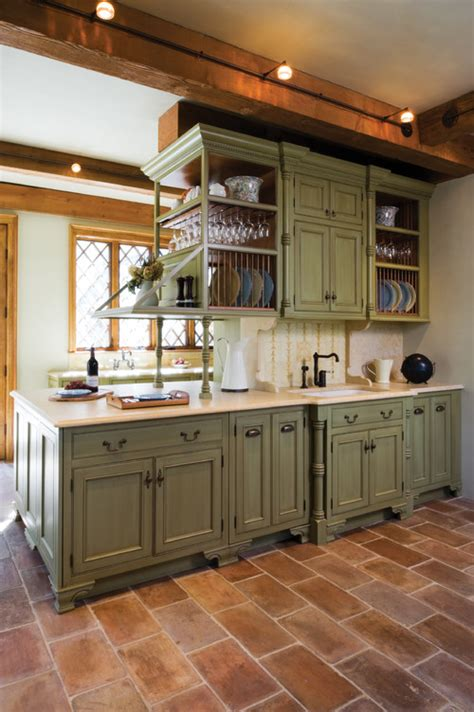 Green Kitchen Cabinets by Pop Of Color Kitchen Cabinets How To Nest