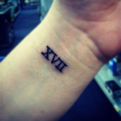 3 16 roman numeral tattoo with this kind of number font