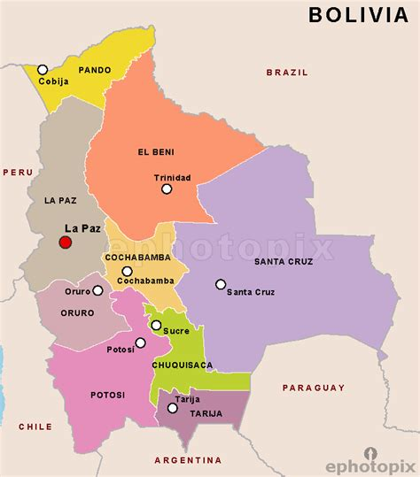map of bolivia bolivia department map department map of bolivia