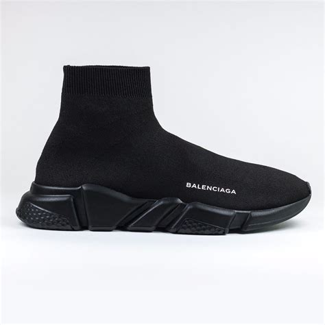 All Black Balenciaga 100 auth new mens balenciaga knit speed sock black sneaker runner ebay