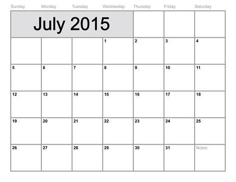 blank monthly calendar template 2015 july 2015 calendar printable template big size 6 templates