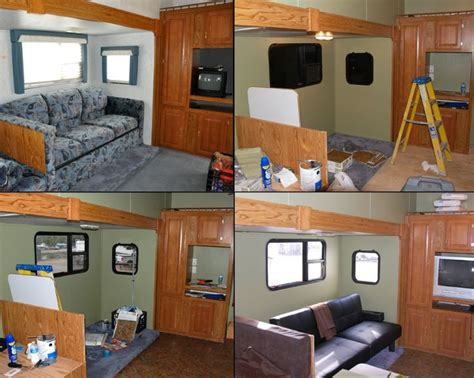 rv makeover ideas the lundy 5 rv remodel more pics rv updates pinterest love the love and green