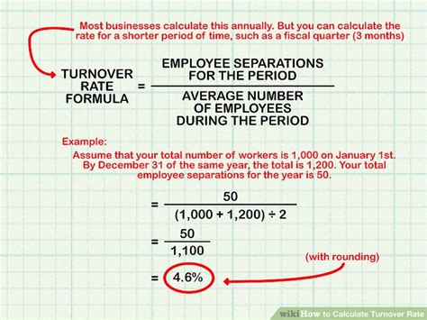 employee rate how to calculate turnover rate 8 steps with pictures
