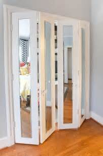 Bifold Mirrored Closet Door Bifold Closet Doors Lowes Home Design Ideas