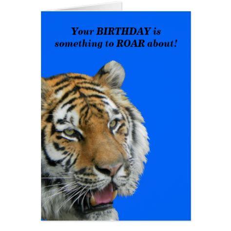 tiger card tiger birthday greeting card zazzle