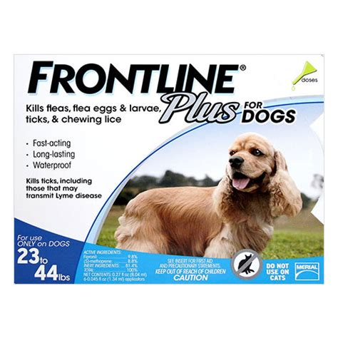 frontline plus for dogs 23 44 lbs frontline plus for dogs buy frontline plus flea tick preventative treatment