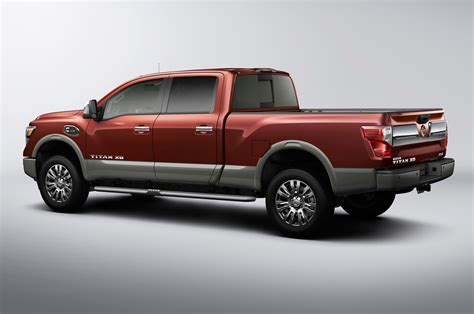 nissan truck 2016 2016 nissan titan xd platinum rear side view photo 29