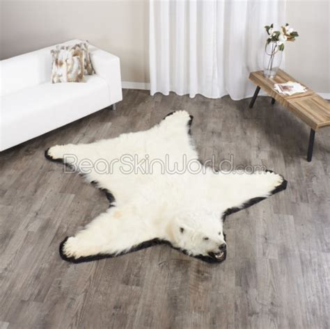 on a bearskin rug 6 3 feett polar rug for sale bearskin world