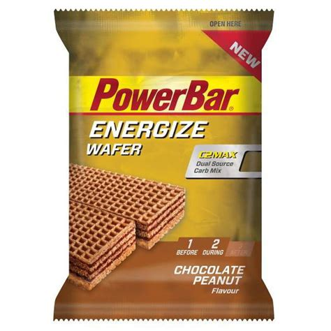 40g carbohydrates powerbar energize wafer with c2max carbohydrates 3 x 40g