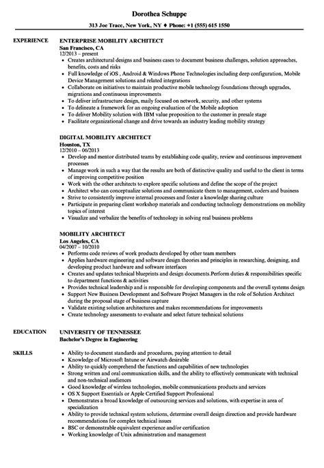 mobile architect resume resume ideas