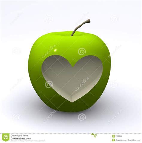 imagenes verdes de amor manzana verde con amor foto de archivo imagen 7772390