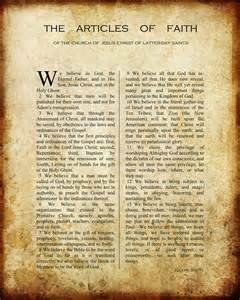 Free Articles Printable Vintage Articles Of Faith Church Stuff Pinterest