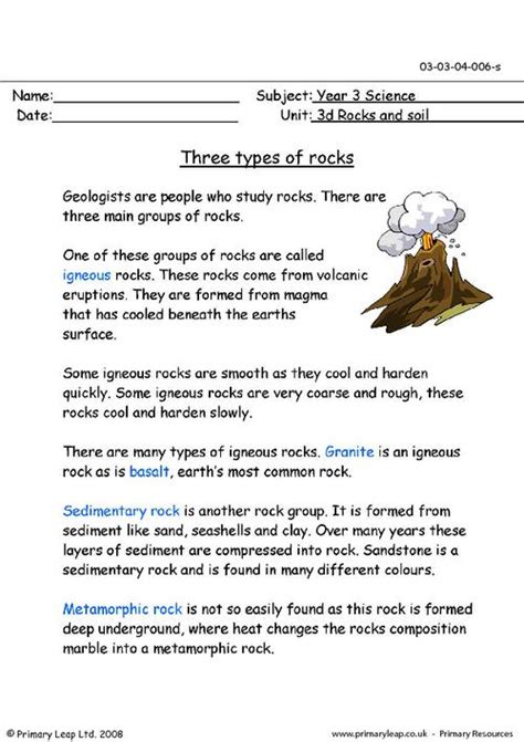 Types Of Scientists Worksheet by Primaryleap Co Uk Three Types Of Rocks Worksheet Homeschool Science Primary
