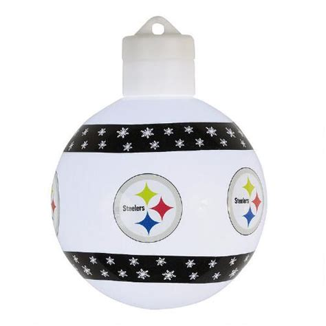 pittsburgh steelers lighted christmas ornament christmas