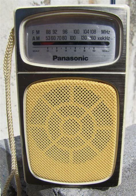 transistor fm panasonic am fm transistor radio circa 1960 model rf 504