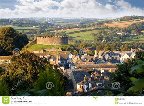 Stone Cottage House Plans panorama of totnes with castle devon england royalty