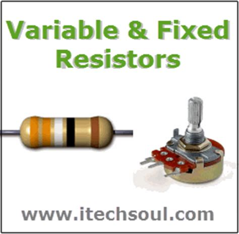 types of resistors fixed and variable definition and types of four five six band resistors and its formulas itechsoul