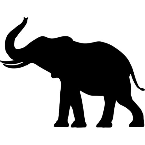 full size elephant silhouette wall transfer safari animal