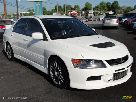 mitsubishi evo white 2006 wicked white mitsubishi lancer evolution ix mr
