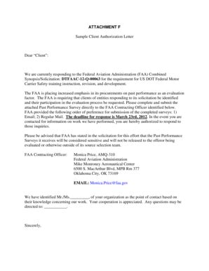 authorization letter with attachment sle financial authorization letter forms and templates