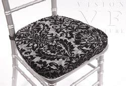 white chiavari cushion with velcro classic cushions chiavari ballroom chairs vision furniture
