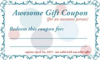 gift coupon template 8 best images of printable babysitting voucher template