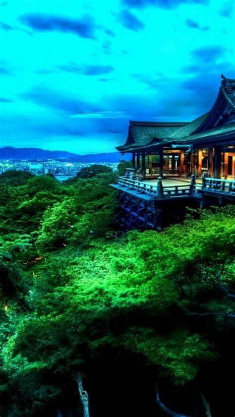 wallpaper iphone 6 japan 640x1136 tempel trees city japan iphone 5 wallpaper