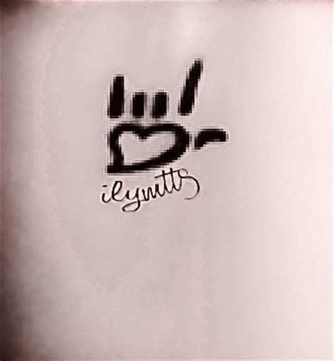 i love you sign language tattoo in sign you more than and sign language on