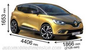Renault Scenic 5 Pax Abmessungen Der Renault Autos Mit L 228 Nge Breite Und H 246 He