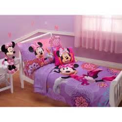 Minnie mouse fluttery friends 4pc toddler bedding set walmart com