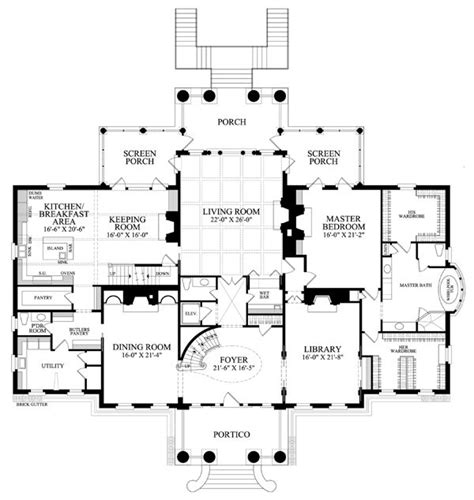 colonial plantation southern house plan 86337