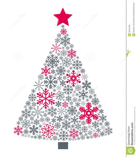 snowflakes christmas tree royalty free stock photo image