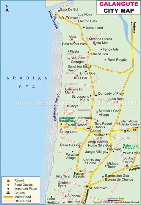 resort goa map calangute