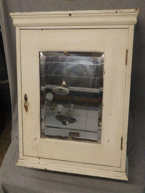 Antique Wood Surface Mount Medicine Cabinet Cupboard