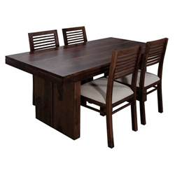 wooden dining table and bench new york four seater dining table