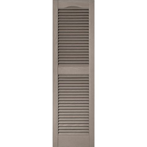 Exterior Louvered Doors Builders Edge 15 In X 52 In Louvered Vinyl Exterior Shutters Pair In 008 Clay 010140052008